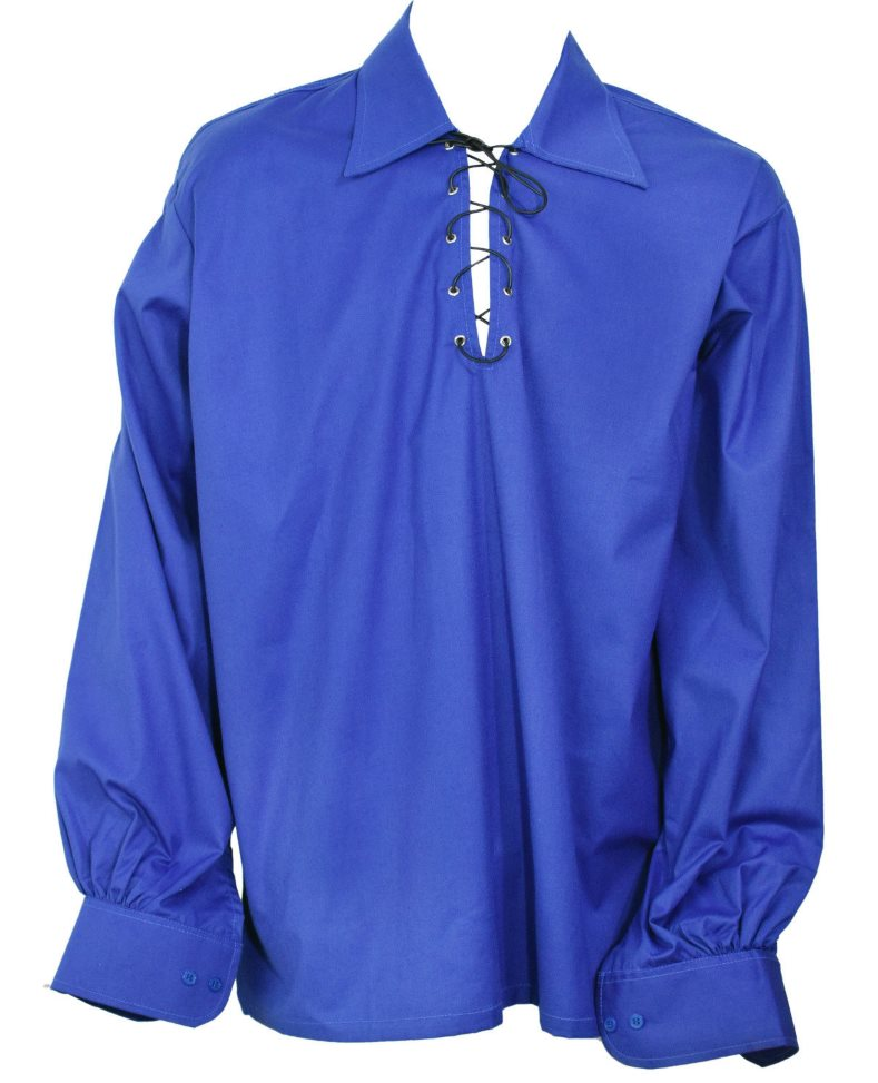 Blue Ghillie Jacobite Highland Shirt