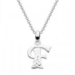 Celtic Initial - Letter F Silver Pendant