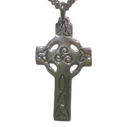 Celtic Cross with Triskelion and Triquetra