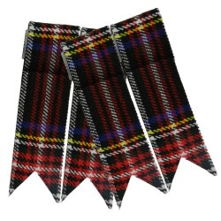 Flashes for Black Stewart Kilt Hose Socks