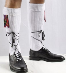 Ghillie Brogues PVC Kilt Shoes