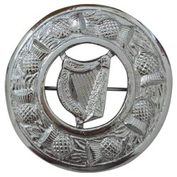 Irish Harp Plaid & Kilt Brooch