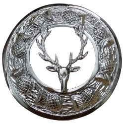 Stag Hunting Plaid & Kilt Brooch