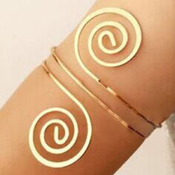 Celtic Spiral Arm Bracelet