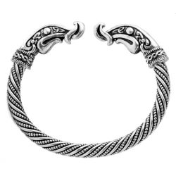 Celtic Dragons Zinc & Steel Bracelet