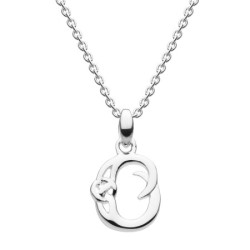 Celtic Initial - Letter O Silver Pendant