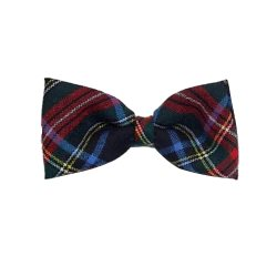 Bow Tie in Black Stewart Tartan