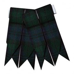 Flashes for Black Watch Kilt Hose Socks
