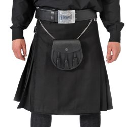 Breton / Cornish Black Kilt