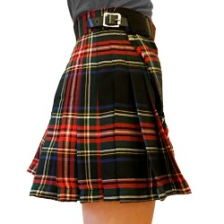 Black Stewart Women's Billie Kilt Skirt