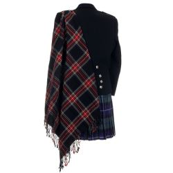 Black Stewart Tartan Fly Plaid