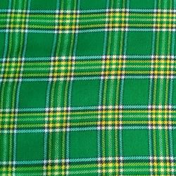 Irish Green Tartan Fabric