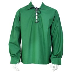 Green Ghillie Jacobite Highland Shirt
