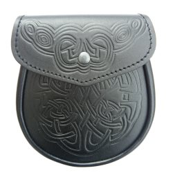 Knotwork Leather Sporran