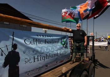 Newport Celtic Festival and Highland Games, Oregon. This fun and educational event serves to honor the traditions and heritage of the seven Celtic Nations of Brittany, Cornwall, Galicia, Ireland, the Isle of Man, Scotland and Wales.