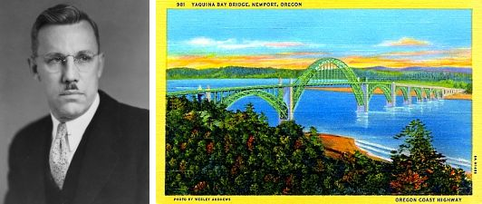 Newport is celebrating the 75th anniversary of the Yaquina Bay Bridge, one of six built by Conde McCullough, a second generation Scots-Irish engineer.