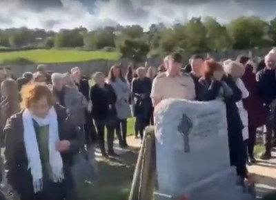 Last laugh: Irish man pranks family one last time at his own funeral
