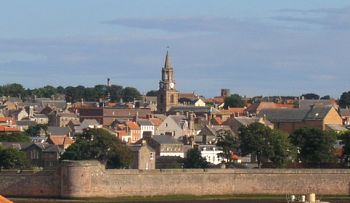 Berwick-upon-Tweed from across the river Tweed