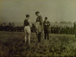Sir Simon Macdonald Lockhart presenting the Red Hose in 1919